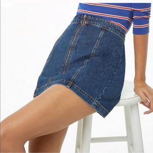 Jeans - Zippered 70s Denim Skirt